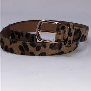 Accessories - Cheetah Skinny Belt